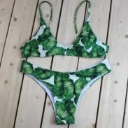 Scindapsus Aureus voller Kraft Bikini drucken