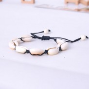 Nettes böhmisches Schmuck-Muschel-handgewebtes Frauenarmband