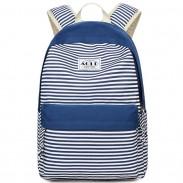 Mode Streifen Design Studententasche Freizeit Reise Gestreift Segeltuch Mädchen Schulrucksack