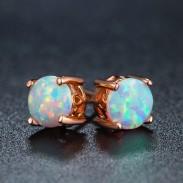 Einzigartiges Design runden Schnitt Opal Stud Ohrring Vintage Braut Ohrringe Ohrstecker