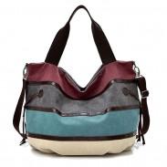 Freizeit-bunter Regenbogen-großer Streifen Segeltuch Einkaufen Handtasche Schultertasche