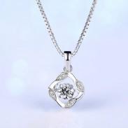 Mode Silber Schlüsselbein Schraube Anhänger Frauen Halskette
