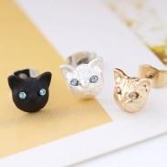 Niedlich Katze Gesicht Ohrringe Mädchen Tierzubehör Kätzchen Ohrstecker