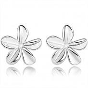 Frische reine Blume Silber Frauen Ohrstecker