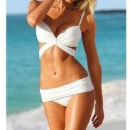 Angel Stripe Wrap Sexy Bikini und Badeanzug