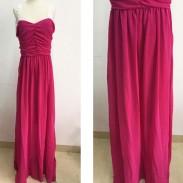 Sexy rot Spleißspitze Rückenfrei Formal Abschlussball Kleider Lange Maxi Party Kleid Damen Abendkleider