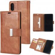 Retro Drei Falten Handy, Mobiltelefon Telefon Leder Fall Kupplung Tasche Riss Iphone Brieftasche