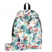 Freizeit-Blatt-Studenten-Rucksack verlässt Niederlassungs-Blumen-Schulrucksack