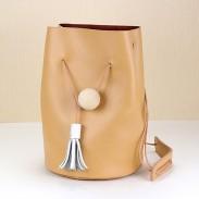 Kreative einfachen Retro-Leder-Schulter Eimer Tasche Umhängetasche