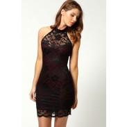Neue reizvolle Schöne Spitze-Sleeveless Neckholder Straps dünnes Kleid