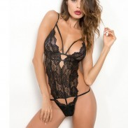 Sexy Temptation Deep V Perspektive Sling Mesh Lace Intimate Dessous