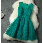 Elegante Seestern gesticktes Organza-Rock-Kleid