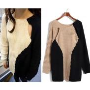 Neue personalisierte Nähte Geometric Mosaic Sweater & Cardigan
