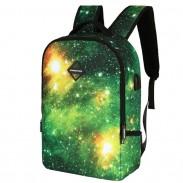 Einzigartiger Galaxie-USB-Aufladungsgeschäfts-Rucksack-bunter sternenklarer Himmel-Schultasche-Sport-Rucksack