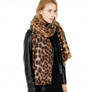 Neuer Kaschmir-Leopardenschal Warm halten Leopardenverdickter Damenschal
