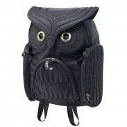 Mode Straße Cooler Eule geformte Massiv Computer-Rucksack Schultasche Reisetasche