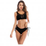 Sexy hohe Taille Frauen Badeanzug Bikinis Bundle Lace Bademode