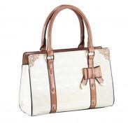 Bogen Check-Leder-Dame-Handtaschen Umhängetaschen