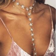Mode lange diamant stern kette persönlichkeit frauen halskette