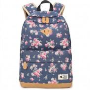 Frische blume Studententasche Großer Schulrucksack mit Blumenmuster