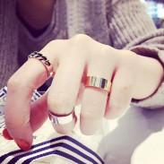 Süße verschiedene geometrische Knoten Mädchen Schmuck Perle Midi Wenige festgelegt Öffnen Ringe