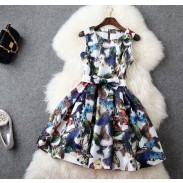 Mode Schmetterling 3D Drucken Organza dünnes Kleid