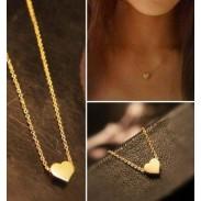 Niedlich Gold Herz Anhänger Halskette