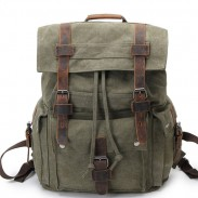 Retro-Leder drei Schnalle große Schultasche Draussen Camping Reiserucksack