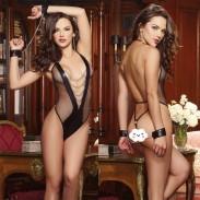 Sexy Black Siamese Chain Prisoner Gift Handschellen Damenwäsche
