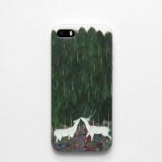 Frische handgemaltes Baum Sika Rotwild Silikon Iphone 5 / 5s / 6 / 6S Kasten