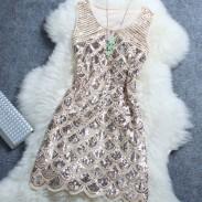 Sternenklare wulstige Pailletten Nachtclub-Frauen-Kleid