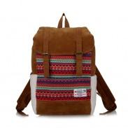 Volks Muster Berber Fleece Doppel-Haspe Schultasche Rechner Reisen Rucksack