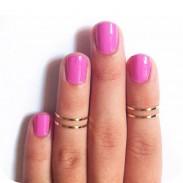 Mode poliert Einfache Ring