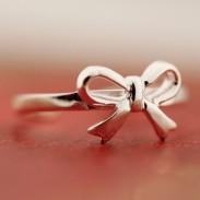 Frisch Bogen Öffnung Silber Ring