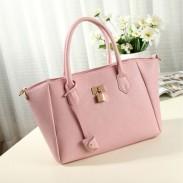 Süße einfache Dame Solide Metallverschluß Schultertasche Handtasche