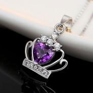 Elegant Kristall Krone Silberkette