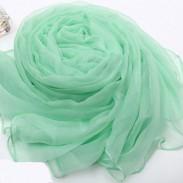 Weich Rein Farbe Maulbeere Seide Chiffon Schal