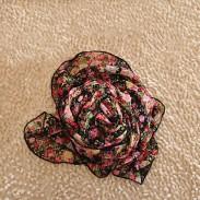 Mode Blumen Lilie Drucken Chiffon Unendlichkeit Schal