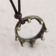 Pullover Halskette Jahrgang Palast Krone Zimt Anhänger Halskette