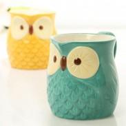 Süße Eule Weihnachtsdekoration Geschenk / Becher Tasse / Keramik Tasse