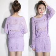 Dünnes reizvolles aushöhlen Zweiteiliges Pullover Kleid