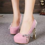 Elegant Bogen Knoten Hoch Heels Party Schuhe