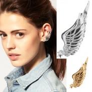 Jahrgang Engel Flügel Single Ohrringe & Ohrclip