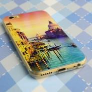 Laser Blaues Licht Himmel Lovers Transparent soft Case Für iPhone 5 / 5S / 6 / 6Plus
