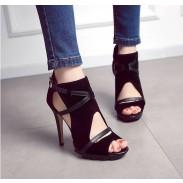 Neue Bandage Hollow Römersandalen fein mit wasserdichten hochhackigen Schuhen für Frauen