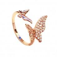 Persönlichkeit Flugzeug Schmetterling Liebe Erdbeere Strass einstellbar offenen Ring