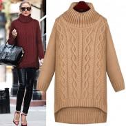 Lose Twist Stricken Unregelmäßige Dicken Pullover