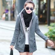 Dicke Samt Sweater mit Kapuze Jacken-Mantel