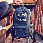 Freizeit Reisetasche Männer spielen schwer Segeltuch Schulrucksack