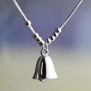 Mode Perlen Sterling Silber Lucky Bell Anhänger Lady Armbänder
